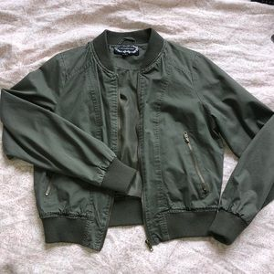 Jackets & Blazers - Hunter green bomber jacket